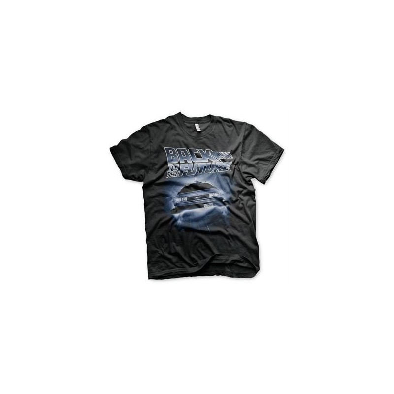 BACK TO THE FUTURE - Flying Delorean - T-Shirt (L)