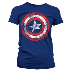 CAPTAIN AMERICA - Shield - T-Shirt Girl (S)