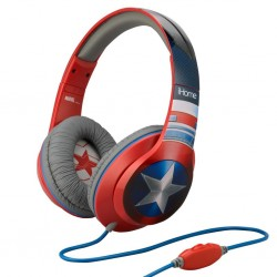 MARVEL - Cap. America Over The Ear Headphones Microphone 'iHome' 165526  Muziek Headsets - Oortjes