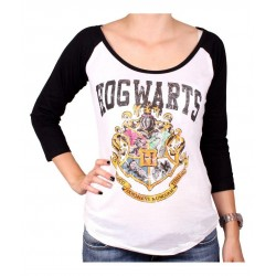 HARRY POTTER - T-Shirt Hogwarts School - GIRL (L)