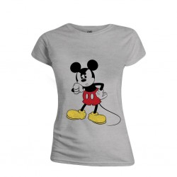 DISNEY - T-Shirt - Mickey Mouse Angry Face - GIRL (L)