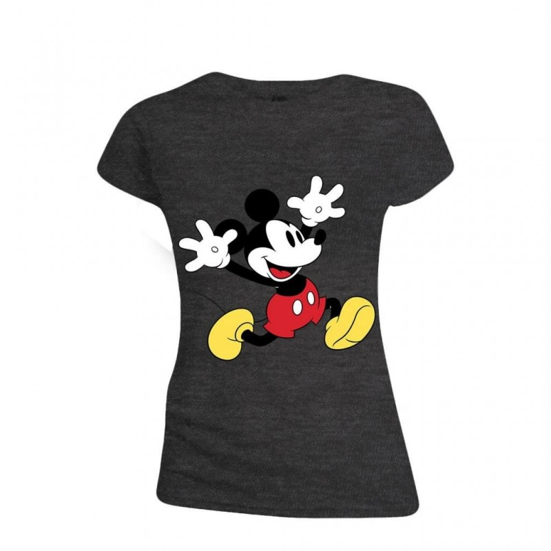 DISNEY - T-Shirt - Mickey Mouse Exciting Face - GIRL (L)