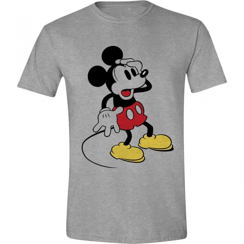 DISNEY - T-Shirt - Mickey Mouse Confusing Face (L)