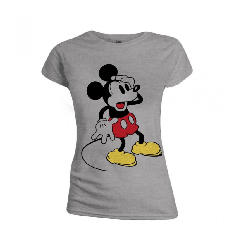 DISNEY - T-Shirt - Mickey Mouse Confusing Face - GIRL (M)