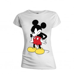 DISNEY - T-Shirt - Mickey Mouse Mad Face - GIRL (M)