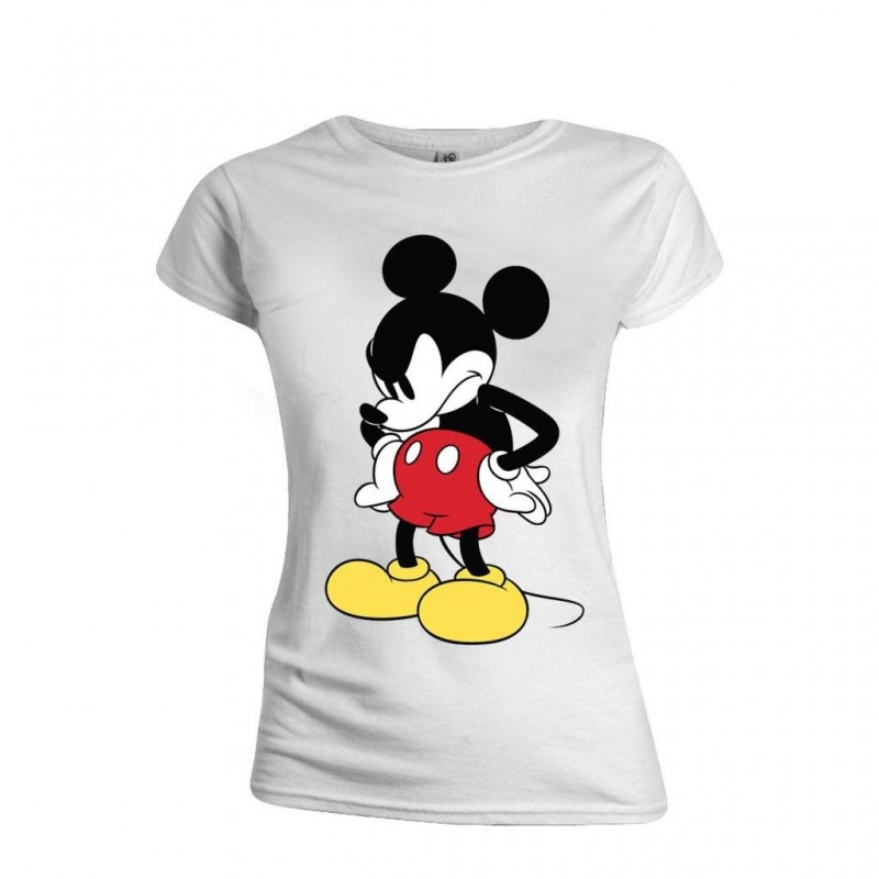 DISNEY - T-Shirt - Mickey Mouse Mad Face - GIRL (L)