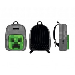 MINECRAFT - Creeper Front Pocket Grey Backpack 165516  Rugzakken