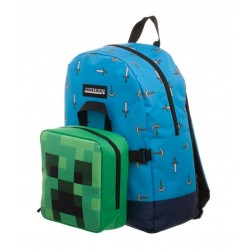 MINECRAFT - Sword Axe Backpack with Detachable Lunch Box 165515  Lunch Box