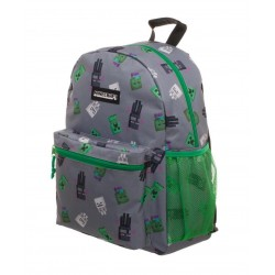 MINECRAFT - Enemy All Over Toss Print Green Backpack