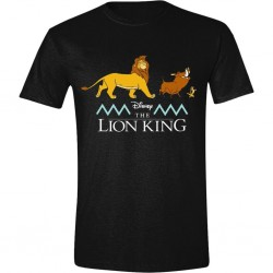 DISNEY - T-Shirt -The Lion King : Logo and Characters (L)