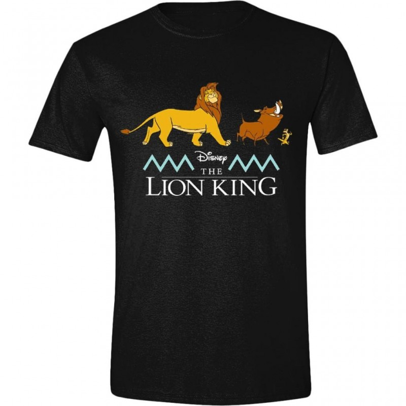 DISNEY - T-Shirt -The Lion King : Logo and Characters (XXL)