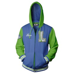 OVERWATCH - Varsity LUCIO Zip-up Hoodies (XL)