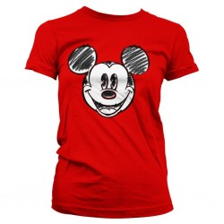 DISNEY - T-Shirt GIRLY - Mickey Mouse Pixelated Sketch (XL)