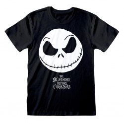 Nightmare Before Christmas - T-Shirt - Jack Face & Logo (L)