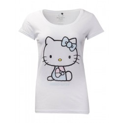 HELLO KITTY - Womens T-Shirt - Embroidery Details (M)