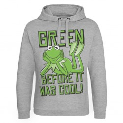 THE MUPPETS - Sweat Hoodie Kermit, Green before it was Cool - (L)