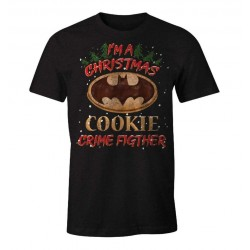 DC COMICS - T-Shirt I'm a Christmas Cookie Crime Fighter - Batman (S) 179808  T-Shirts