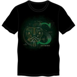 HARRY POTTER - Men T-Shirt Glow in the Dark - Slytherin - (M) 182404  T-Shirts