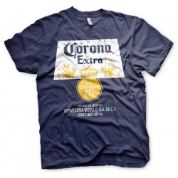 BEER - Corona Extra Washed Label - T-Shirt - (L) 185502  T-Shirts