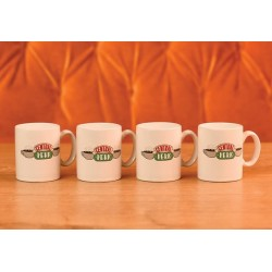 FRIENDS - Central Perk - Set van 4 Espresso Bekers 125ml