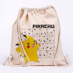 POKEMON - Pikachu - 100% cotton bag 42x37cm