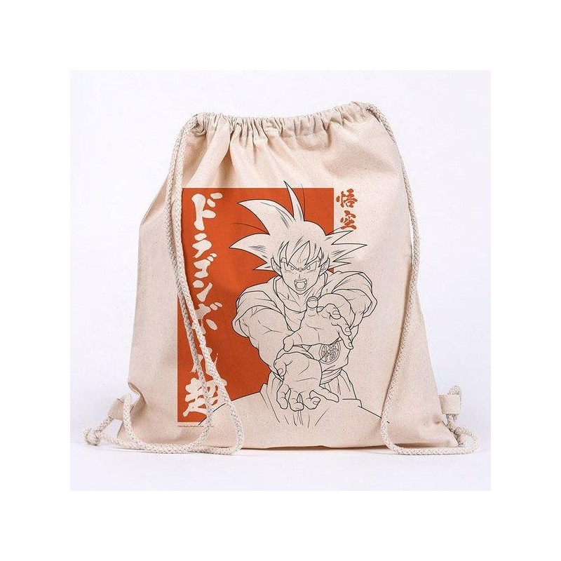 DRAGON BALL SUPPER - Goku - 100% cotton bag 42x37cm 193518  Sport Tassen