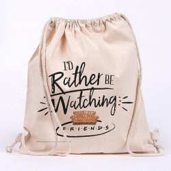 FRIENDS - Rather Be Watching - 100% cotton bag 42x37cm 193519  Sport Tassen