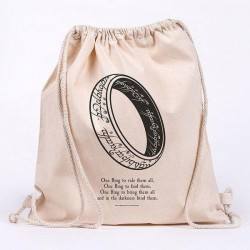 LORD OF THE RINGS - One Ring - 100% cotton bag 42x37cm