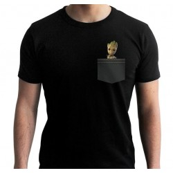 MARVEL - T-Shirt Pocket Groot 'New Fit' - Black (S) 165268  T-Shirts Marvel