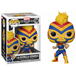 MARVEL - Bobble Head POP N° 710 - Lucha Libre Captain Marvel 193558  Funko Pops
