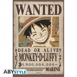 ONE PIECE - Wanted Luffy New 2 - Poster 91x61cm 193880  Posters