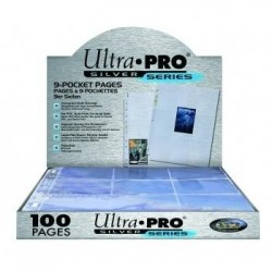 ULTRA PRO - 9-Card Pages Silver '11 Hole' - Display 100 Pces 194246  Allerlei