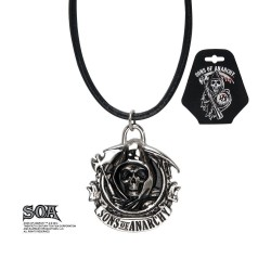SONS OF ANARCHY - Grim Reaper pendant with Leather Chord 165182  Juwelen