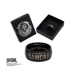 SONS OF ANARCHY - Black SAMCRO Ring - Size 12