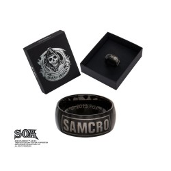 SONS OF ANARCHY - Black SAMCRO Ring - Size 10