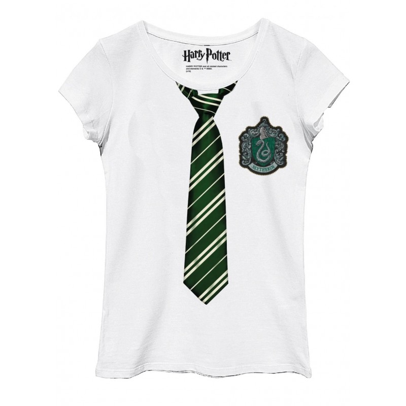 HARRY POTTER - T-Shirt Slytherin Disguise - GIRL (XL) 165133  T-Shirts