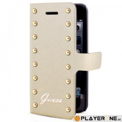 GUESS - Folio Case Studded Collection Gold / Beige ( Galaxy S5) 138593  Allerlei