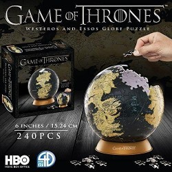 GAME OF THRONES - 3D Puzzle - GLOBE - 6 Inches / 15,24cm / 240 pcs 165073  Puzzels