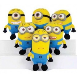 MINIONS - Knuffel 22 cm - Despicable Me 2 - Pack van 6
