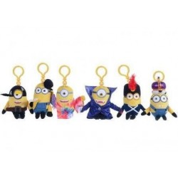 MINIONS - Sleutelhanger Knuffelies 14 cm - New Movie Costume - Pack of 6