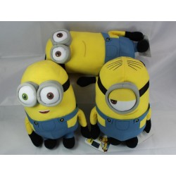MINIONS - Knuffel 28 cm - Despicable Me 2 - Pack van 3