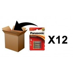 PANASONIC Batterijen -  Pro Power AAA-LR03 X 4 - Box 12 Pack