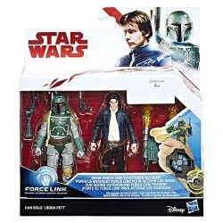 STAR WARS Force Link - Figurines 2 Pack - Han Solo and Boba Fett 163733  Speelfiguur