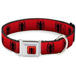 SPIDERMAN - Dog Collar (S) 22/38 - 2,5 Cm - Red/Logo 166024  Honden Leibanden