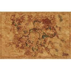ZELDA - Poster 61X91 - Hyrule World Map 167754  Posters