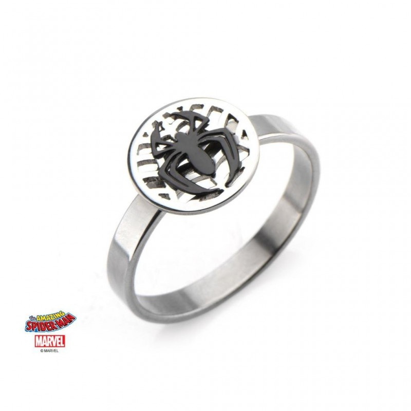 MARVEL - Women's Silver Plated Brass Spider-Man Ring - ringmaat 7