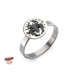MARVEL - Women's Silver Plated Brass Spider-Man Ring - ringmaat 6