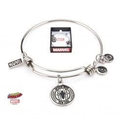 MARVEL - Dames roestvrij staal Spider-Man Expandable Charm Armband