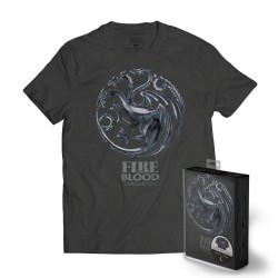 GAME OF THRONES - T-Shirt METTALIC SHIELD - Targaryen (XXL)