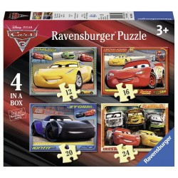 4 Puzzels Cars 3 Let AND aposs Race! 4005556068944 ravensburger Puzzels